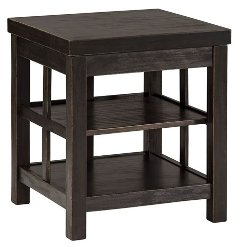 square accent tables gavelston vintage rub through black square end table end