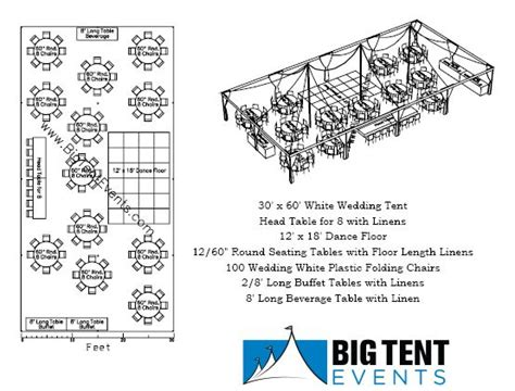 wedding layout diagram 30 x 60 pole tent seating 100 chart wedding likes