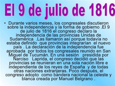 Resumen 9 De Julio by Im 225 Genes Para El Bicentenario De La Independencia