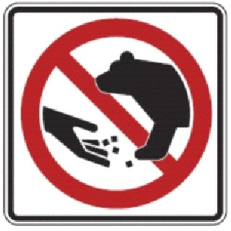 don't feed the bears sign | do not feed bears sign