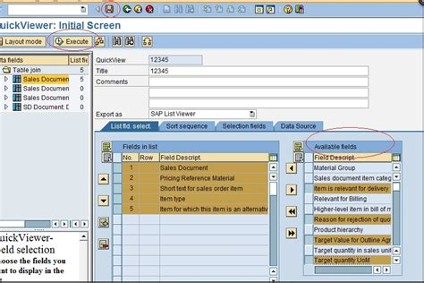 query layout design sap guidelines to create quickviewer and sap query sap blogs