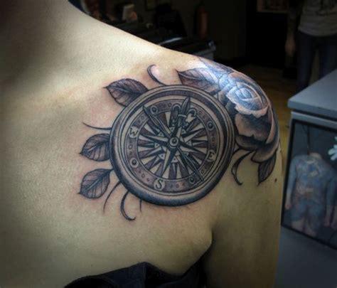 compass tattoo on shoulder 55 compass tattoo design ideas amazing tattoo ideas