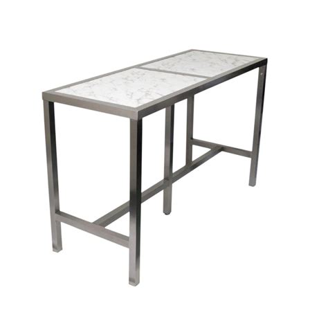 high bar table marble style top