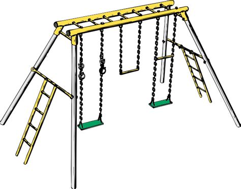swing set cartoon swing set clip art at clker com vector clip art online