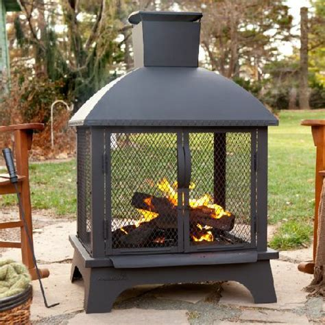 portable patio fireplace outdoor fireplace patio wood burning steel chiminea heater