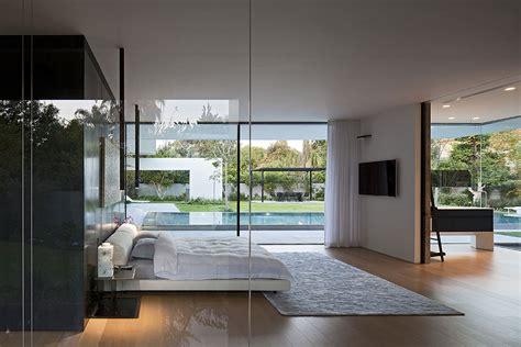 bedroom with glass walls bedroom glass walls float house in tel aviv israel