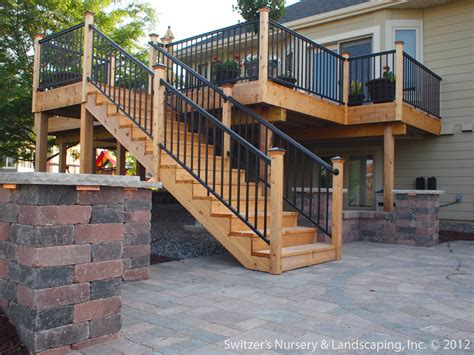 Backyard Deck Ideas Deck Patio Mn Backyard Ideas Custom Designed
