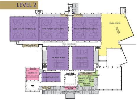Athletic Training Room Floor Plan James Madison University Urec Main Facility