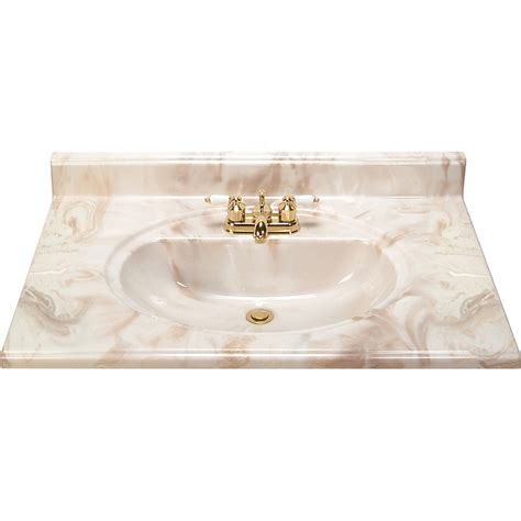 marble bathroom vanity tops shop style selections caramel caramel cultured marble