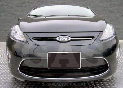 ford fiesta chrome grill, custom grille, grill inserts