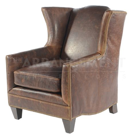 rustic leather wingback chair hatton wingback leather chair rustic western furniture store