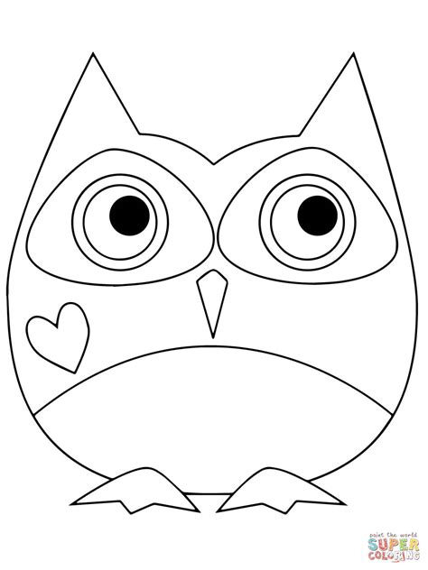 valentine owl coloring page valentine day owl coloring online super coloring