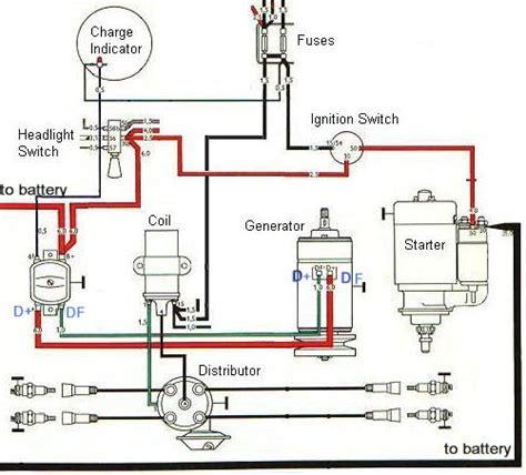 ignition  charging system diagram baja bugs pinterest