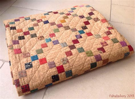 Single Patchwork Quilt - fabadashery single chain charm quilt