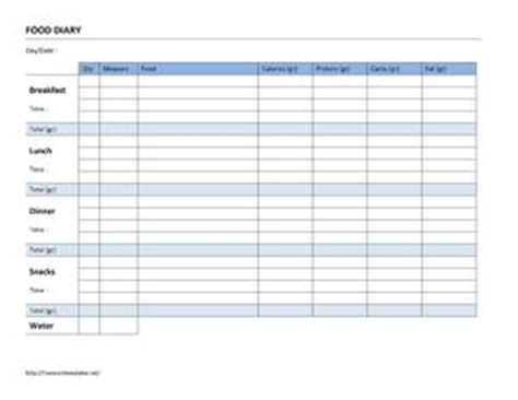 food diary log open office templates