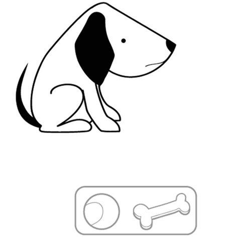 imagenes para dibujar sin color perro sin sus juguetes dibujo para colorear e imprimir