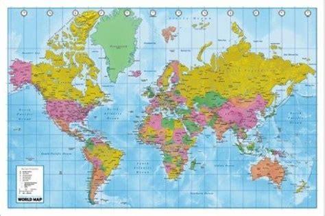 world map with country names poster impariamo insieme cartina geografica mondo