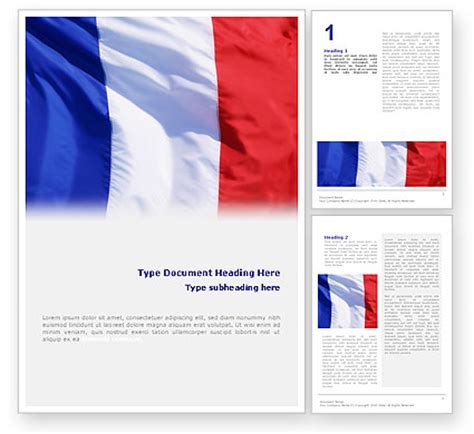 french flag brochure template design and layout download