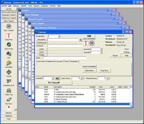 Plumbing Takeoff Software by Electrical Estimating Software Screenshots