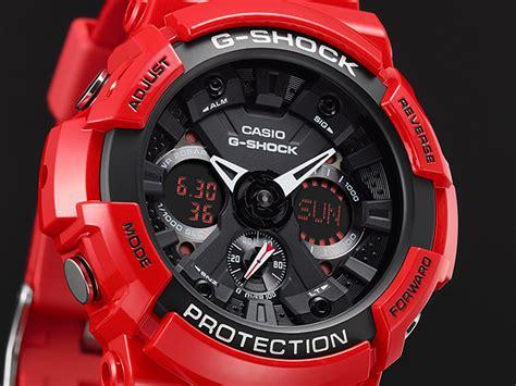 Casio G Shock Ga 201 Rd 4adr Glossy Original rel 243 gio casio g shock anadigi ga 201rd 4adr vermelho a
