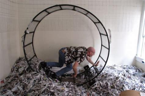hamster wheel human hamseter wheel hacked gadgets diy tech