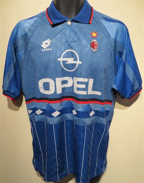 Retro Jersey Ac Milan Away 2007 1995 96 ac milan shirt by lotto vintage jerseys