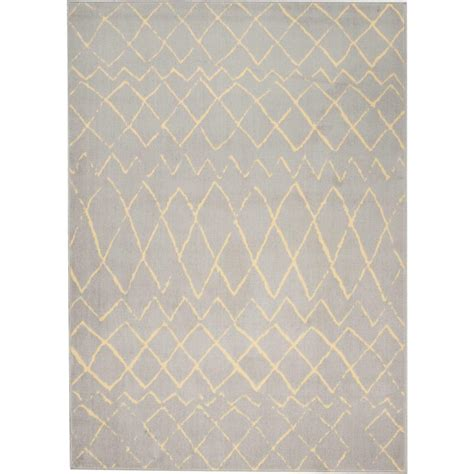 10 x 9 area rug nourison grafix grey 7 ft 10 in x 9 ft 10 in area rug 394842 the home depot