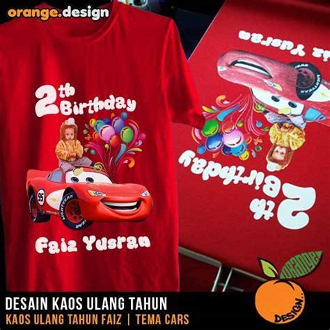 desain kaos ulang tahun desain kaos ulang tahun cars