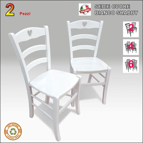 sedie bianche sedie country 2 sedie in legno bianche stile shabby