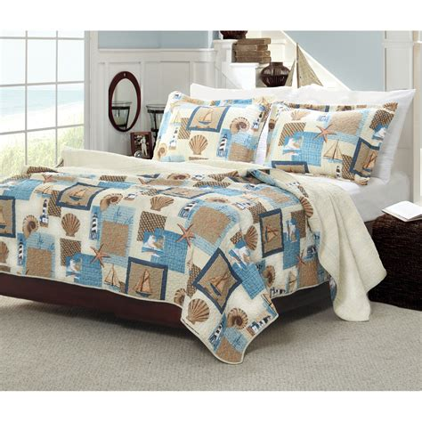 bedroom beach style bedroom design  nautica bedding