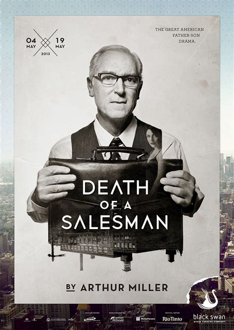 themes death of a salesman arthur miller black swan state theatre company s 2013 season posters