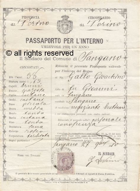 ministero dell interno passaporto documenti 20