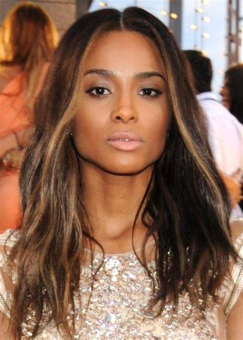 middle part black hairstyles hairstyle with part down the middle for black women