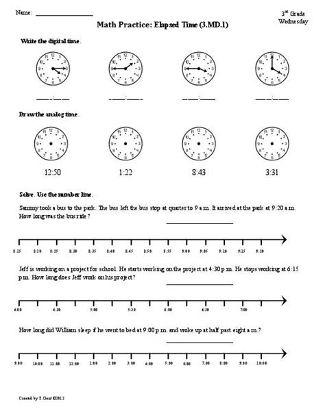 Third Grade Time Worksheets by 18 Best Images Of 4th Grade Clock Worksheets 4th Grade