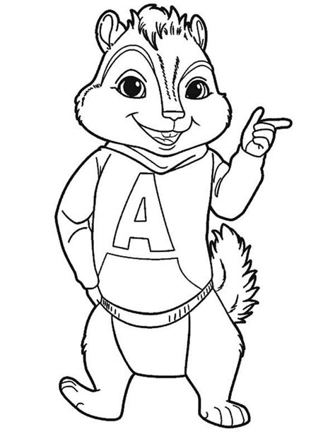 Alvin And The Chipmunks And The Chipettes Coloring Pages