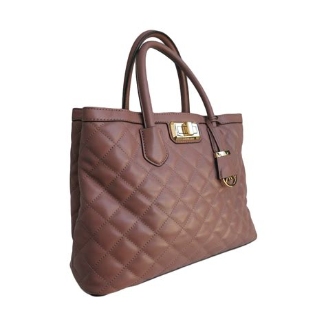 Michael Michael Kors Saratoga Leather Satchel by Michael Michael Kors Large Quilted Leather Satchel