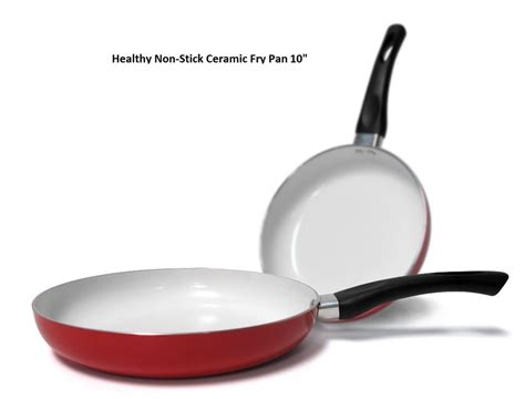 10 Inch Ceramic Skillet by 10 Inch Healthy Nonstick Ceramic Coated Frying Pan Eco