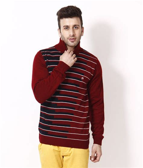 Combi Maroon Navy Sweater Terlaris fabtree maroon navy zipped neck sweater buy fabtree maroon navy zipped neck sweater at