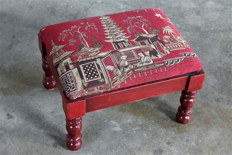 armchair cricket vintage petite red chinoiserie armchair and cricket