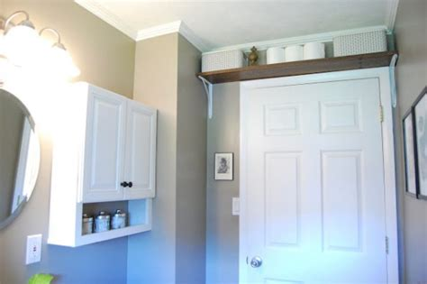 Shelf Above Bathroom Door by 17 Insanely Clever Small Bathroom Hacks To Make It Larger