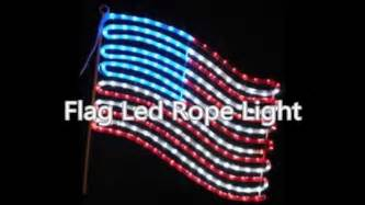 american flag lights outdoor american flag led rope light