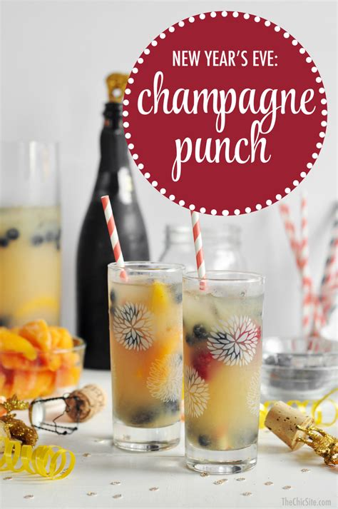 new year s eve chagne punch the chic site
