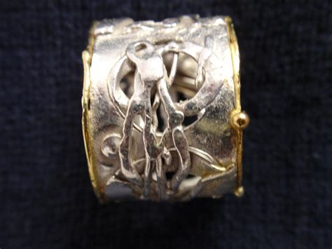jewelry quot rs 11 ring silver and 18kt gold fused