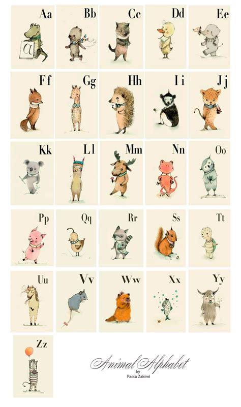 minimalist animal alphabet