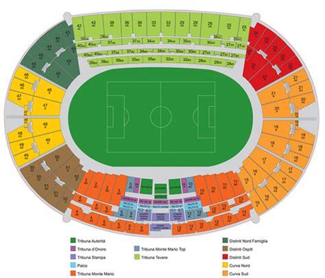 posti a sedere olimpico di roma prevendite biglietti roma comprare biglietti roma