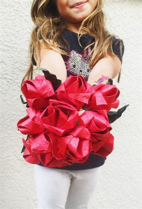 Diy Origami Bouquet - home rockin mama