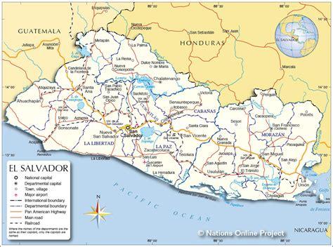 map of el salvador political map of el salvador nations project