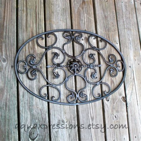 Oval Wall Decor by Items Similar To Metal Oval Wall Decor Scrolls Wall