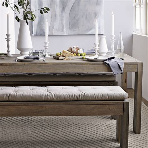 Dining Room Bench Pads Tufted Dining Bench Cushion West Elm