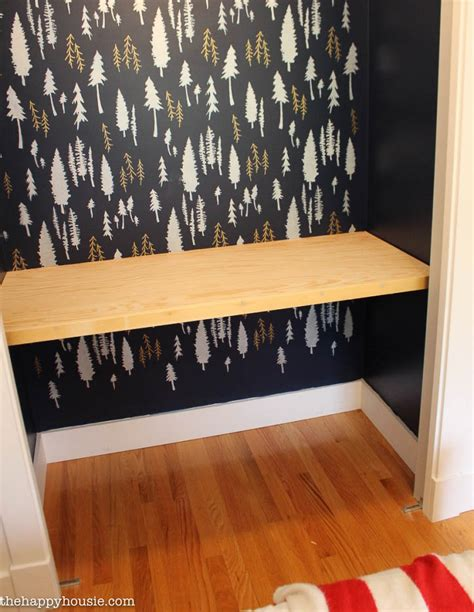 desk built into closet how to build install a desk countertop in a closet the